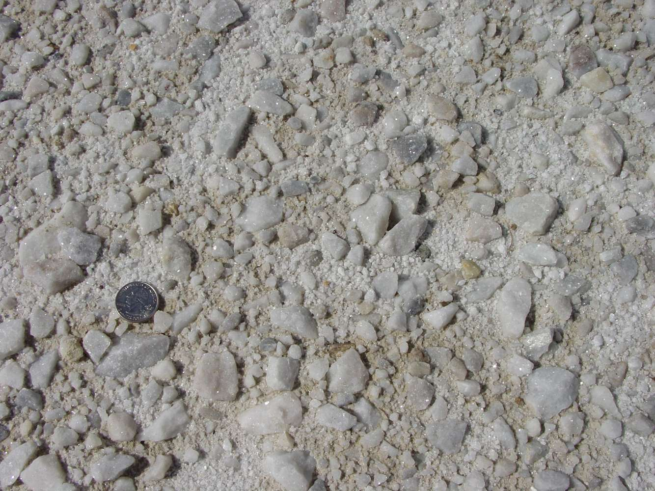 White Processed Gravel 1-1/4""