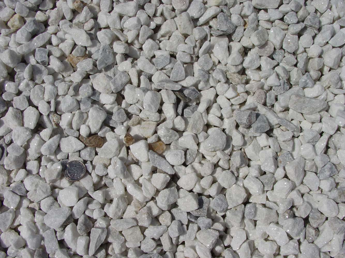 """Washed White Stone / Marble Chips 3/4"""""""