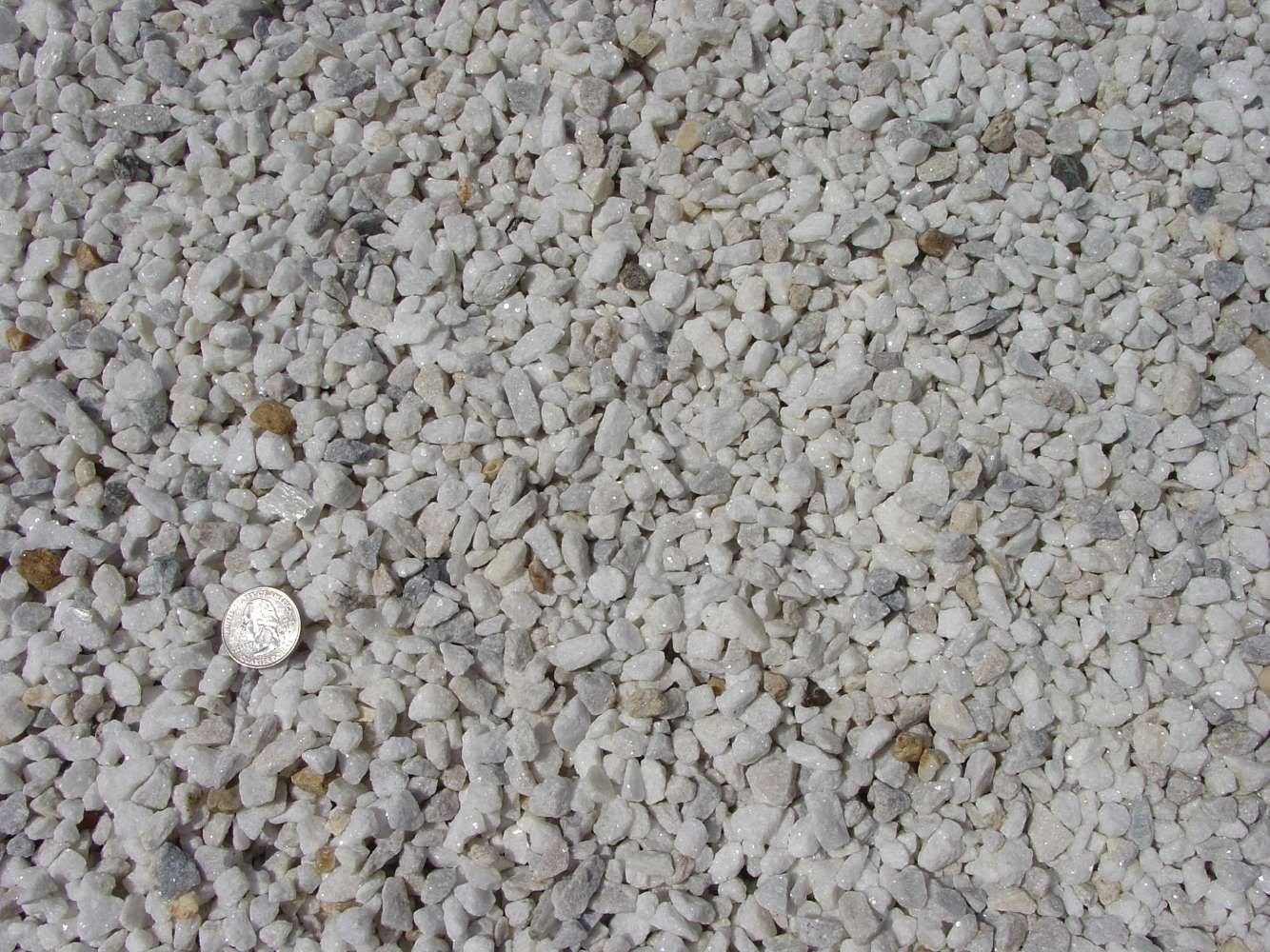 Washed White Stone / Marble Chips 3/8""