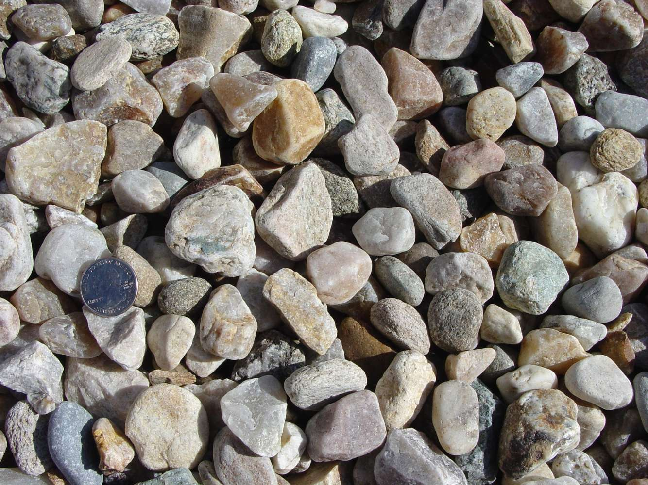 Washed Crushed Native Stone 1-1/4""